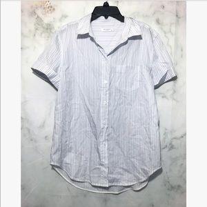 Equipment • button down short sleeve blouse